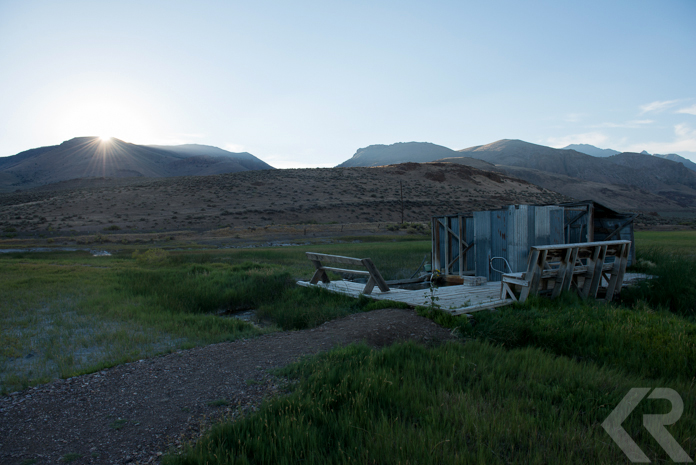 Alvord Hot Springs at sunset.