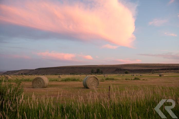 Sunset in Diamond, Oregon.