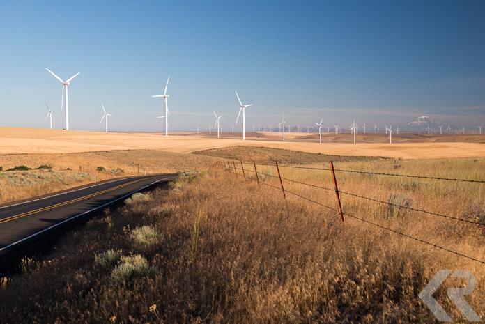 Wind farms in Oregon.
