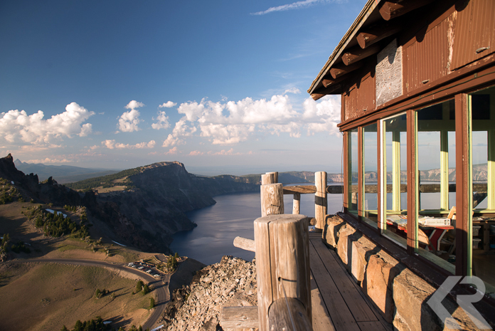Fire lookout at Crater Lake National Park.