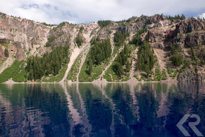Caldera and water in Crater Lake