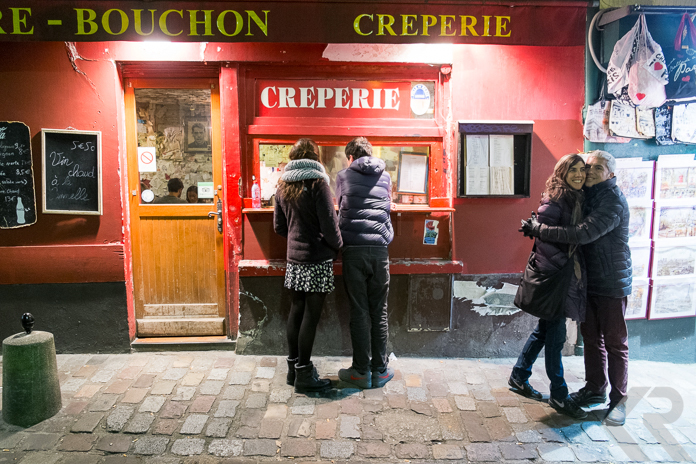 Crepe stand in Montmartre