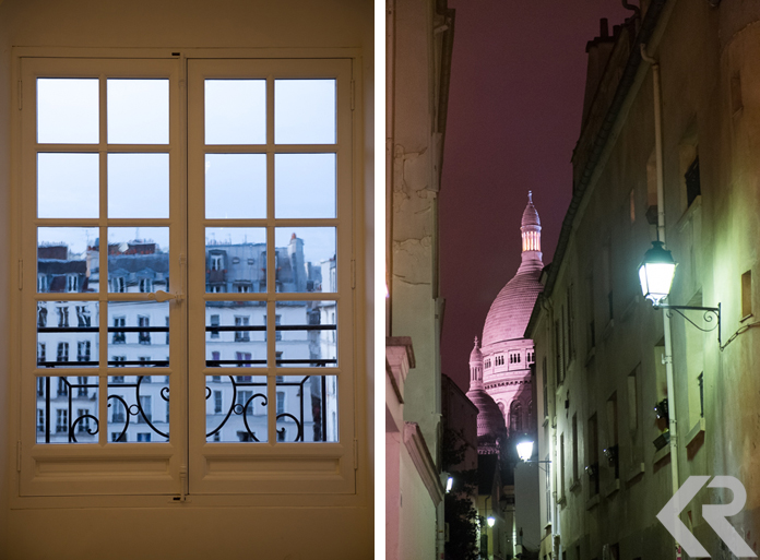 Paris rooftops and Sacre Coeur