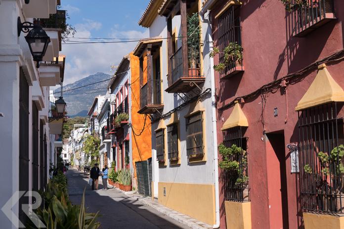 Old Quarter street in Marbella