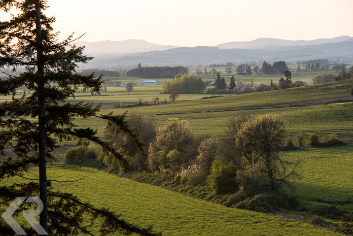 Willamette Valley at sunset