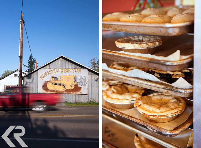 Amity, Oregon and pies at Blue Raeven Farmstand